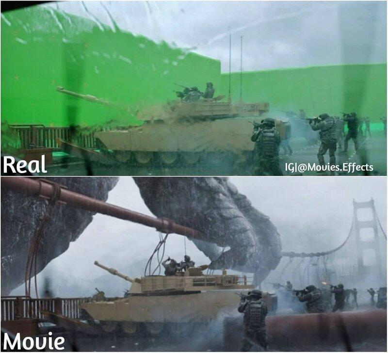 88 сцен из популярных фильмов до и после добавления спецэффектов